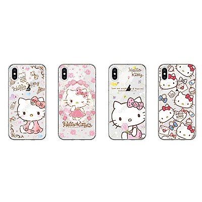 GARMMA Hello Kitty iPhone X/Xs 水鑽防摔軟殼