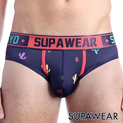 SUPAWEAR 趣味系列超彈性型男三角內褲(海藍色)