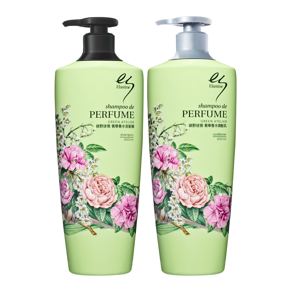 Elastine 綠野迷情奢華香水洗潤髮精(買一送一)