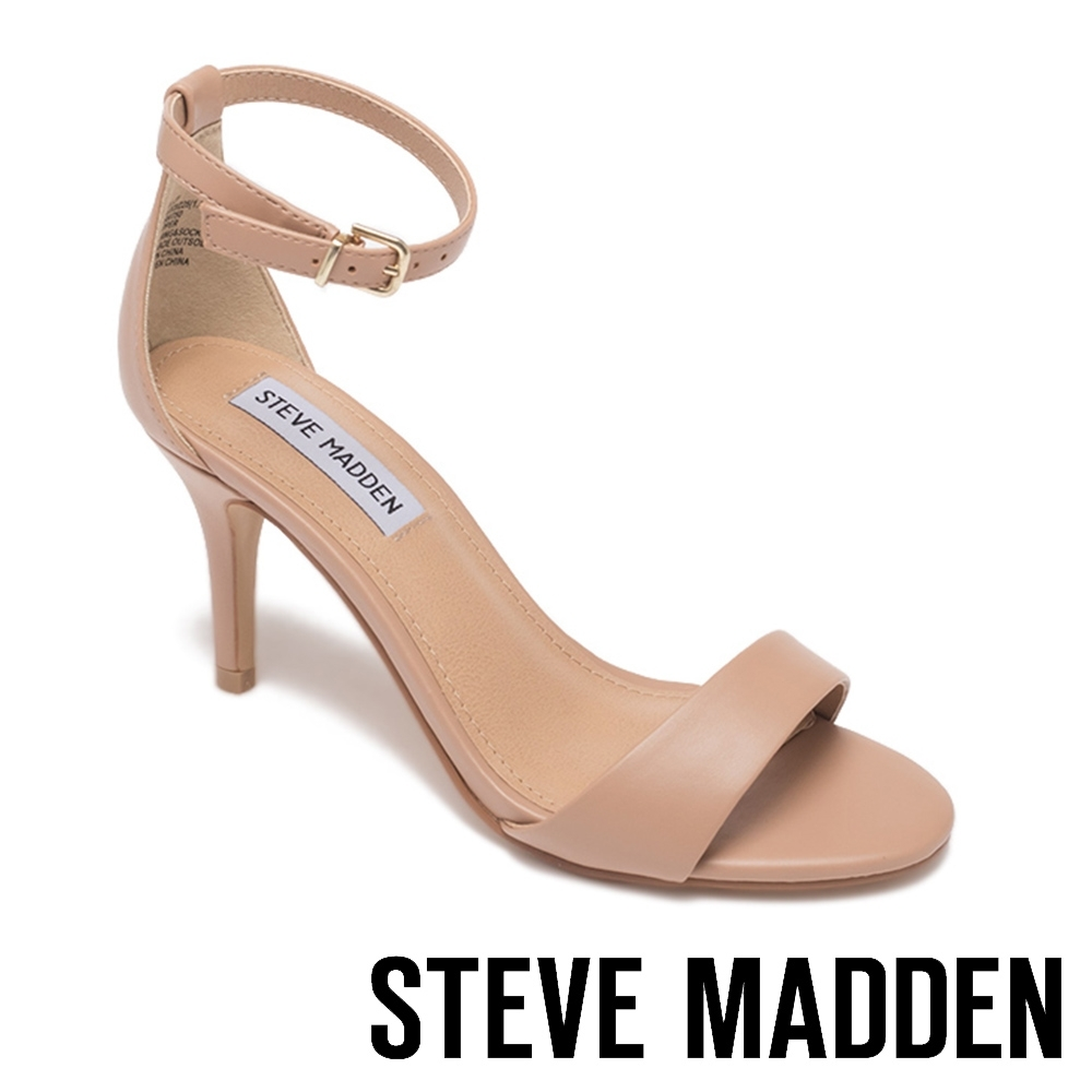 STEVE MADDEN-SILLY 繞踝一字帶細跟高跟涼鞋-粉藕色