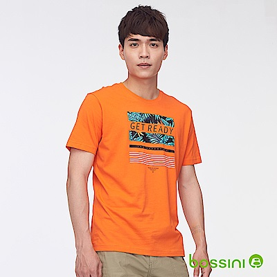 bossini男裝-印花短袖T恤28橘