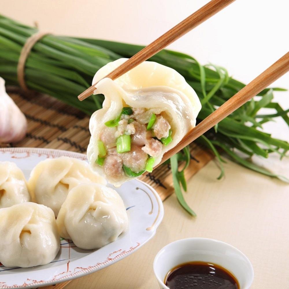 (團購組)餃子樂_招牌韭菜鮮肉餃子10包組(20入/包)