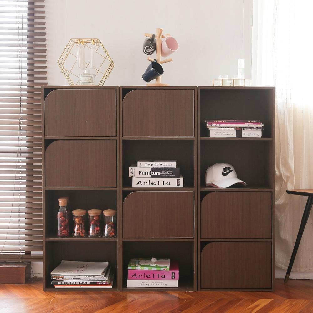 完美主義 四層二門書櫃/收納櫃/四格櫃(2色)