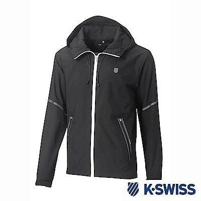 K-Swiss Windbreaker Jacket風衣外套-男-黑 @ Y!購物