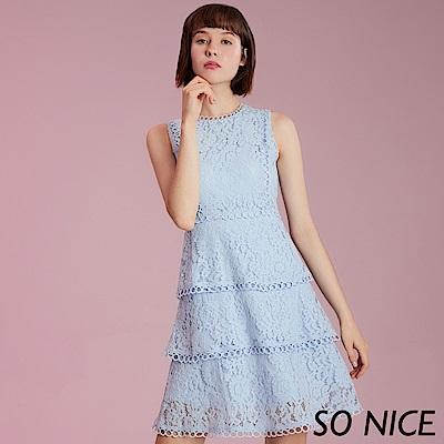 SO NICE優雅甜美蛋糕蕾絲洋裝