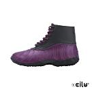 CCILU  英倫風防水短靴-女款-302314126紫色
