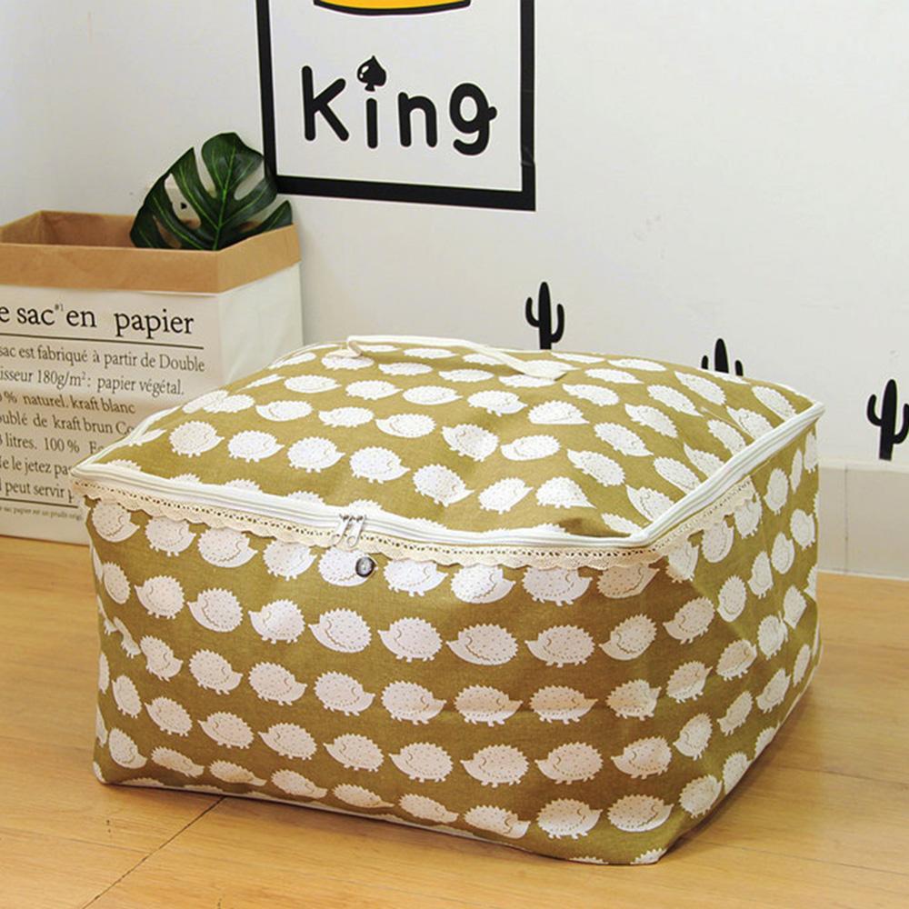 【收納職人】衣物棉被大容量防水防塵袋收納袋收納箱50L(綠底小刺蝟)