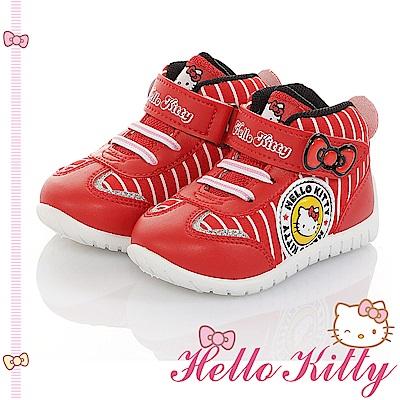 HelloKitty童鞋 輕量減壓抗菌防臭休閒高筒鞋-紅