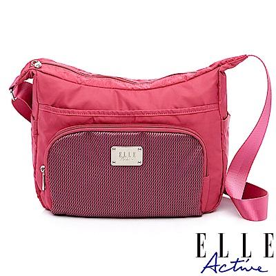 ELLE Active 摩登都會系列-側背包/斜背包-大-桃紅色