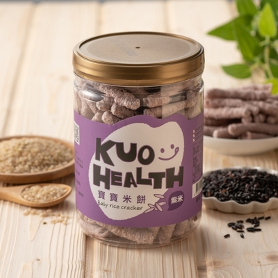 郭老師 寶寶米餅-紫米(50g/罐)