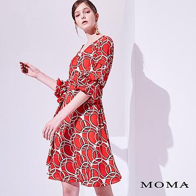 MOMA 幾何圍裹洋裝