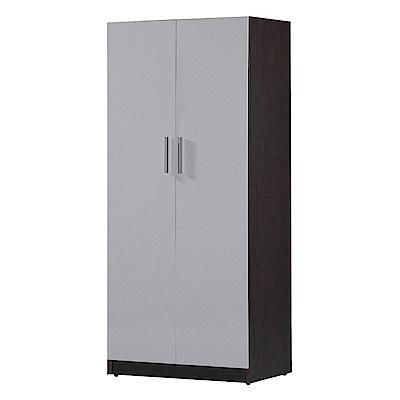 文創集 蘿倫環保2.7尺塑鋼多格衣櫃(五色)-81.5x46.5x200cm-免組