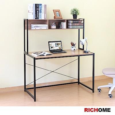 【RICHOME】 經典雙層書架書桌