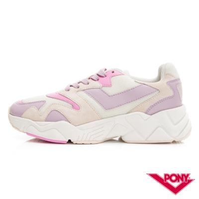 【PONY】MODERN 2系列 玩轉撞色潮流運動鞋 復古慢跑鞋 球鞋 女款 粉紅紫