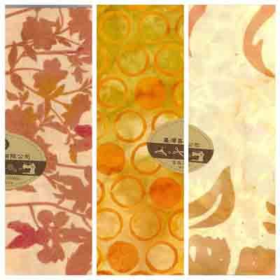 美國進口配色棉布(橘紅色系)