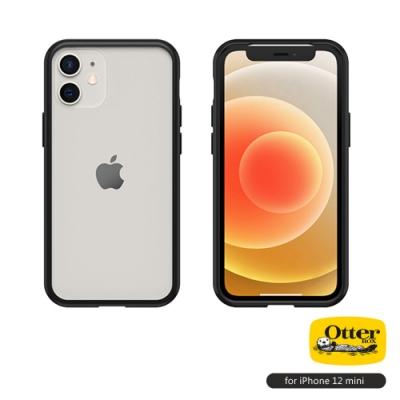 OtterBox iPhone 12 mini (5.4吋)專用 防摔吸震手機保護殼-React簡約輕量透明系列■黑/透明