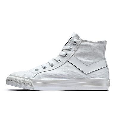 【PONY】Shooter系列珍珠光感鞋面帆布鞋 女鞋 珠光粉霧白