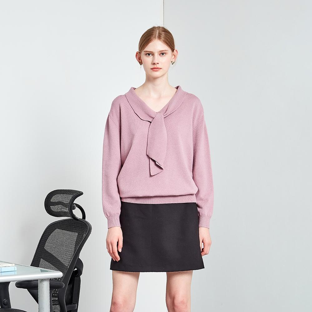 【MASTINA】典雅造型領口-女長袖針織衫(三色/魅力商品/版型適中)