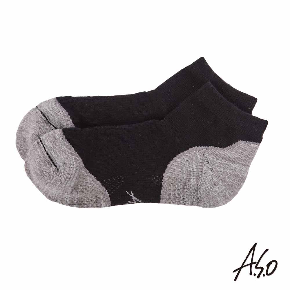 A.S.O 遠紅外線系列 除臭短襪-黑