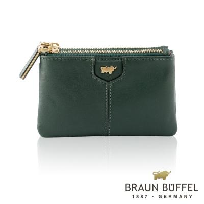 BRAUN BUFFEL - 蕾絲莉系列雙層零錢包 - 森林綠