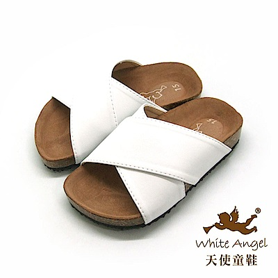 天使童鞋 X2氣墊親子拖鞋(中-大童)J89-白