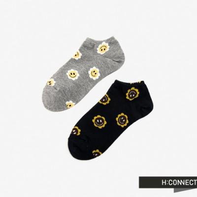 H:CONNECT 韓國品牌 配件 -笑臉印花短襪組