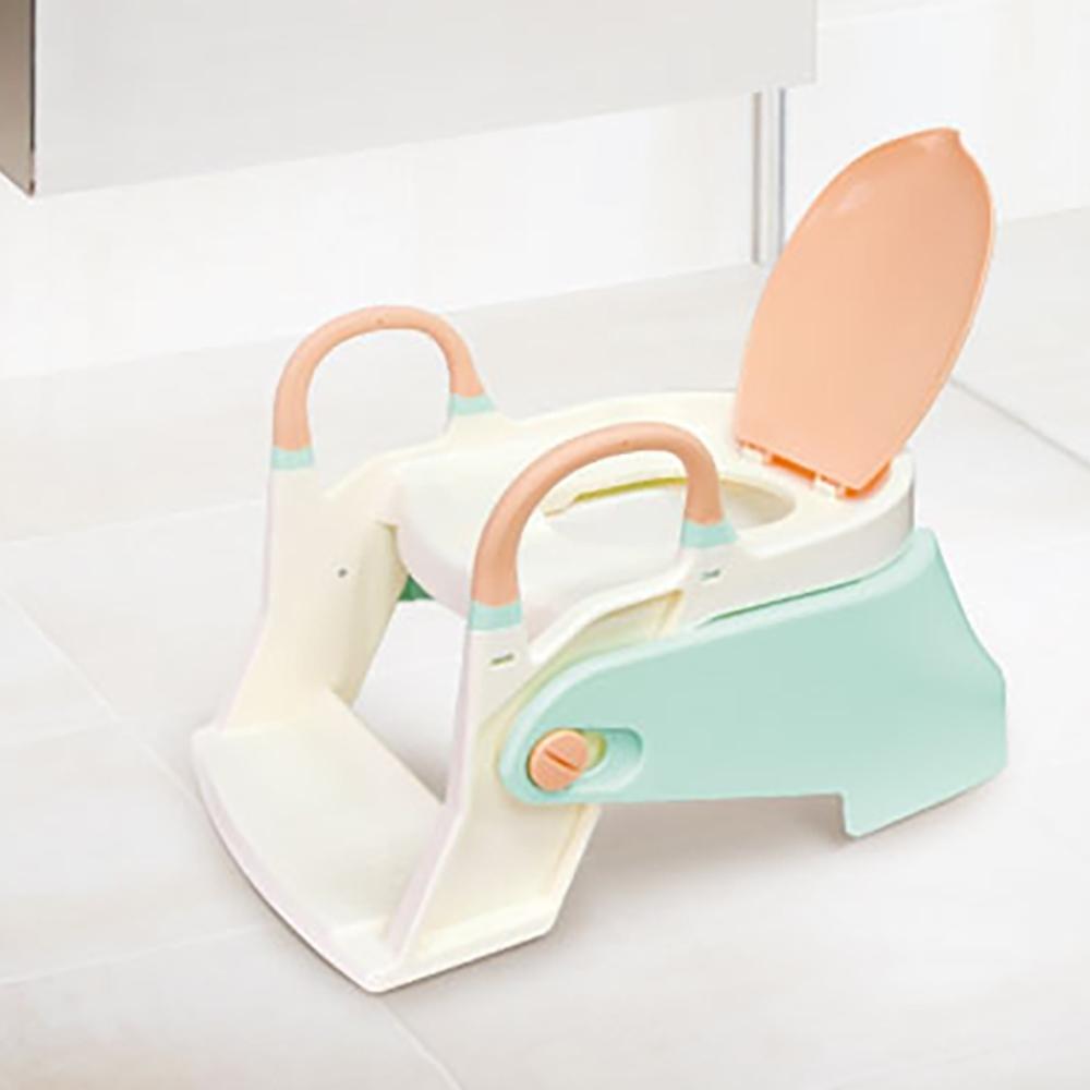 益進 台灣製 二合一成長型兒童輔助階梯坐便器 便盆