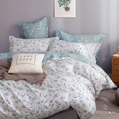 DUYAN竹漾 舒柔棉-單人床包被套三件組-悠若清葉