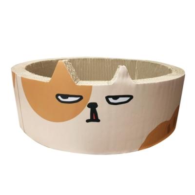 寵喵樂《貓貓圓窩貓抓板》X2入組
