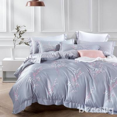 BEDDING-3M專利+頂級天絲-6X7尺特大薄床包涼被四件組-葉曉