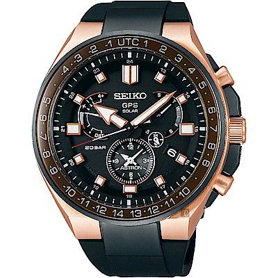 SEIKO精工 ASTRON 8X53 雙時區鈦GPS衛星定位手錶(SSE170J1)