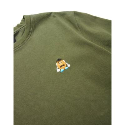 CACO-蛋頭電繡款短T(二色)-男【UDI103】