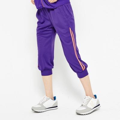 【FIVE UP】極顯瘦舒適吸排針織七分褲-紫