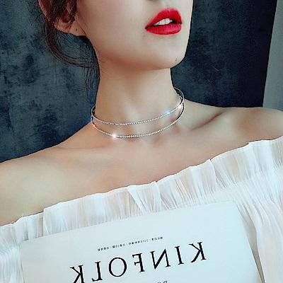 梨花HaNA 新娘花嫁多用雙層鑽飾頸鍊髮飾二用