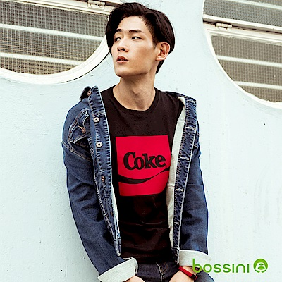 bossini男裝-CocaCola印花T恤01黑
