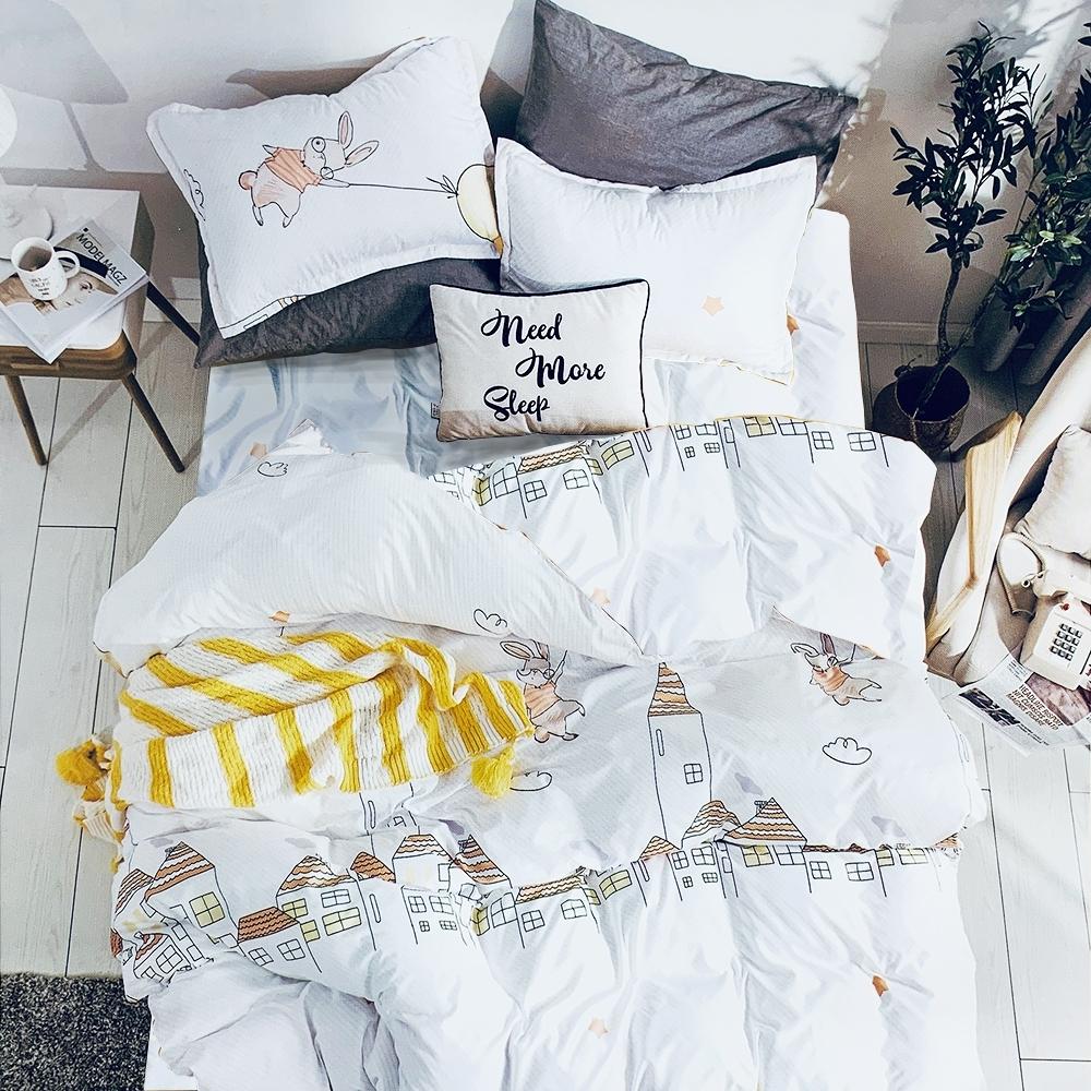 Goelia 天生耀眼 親膚舒柔活性印染超細纖雙人床包枕套三件組