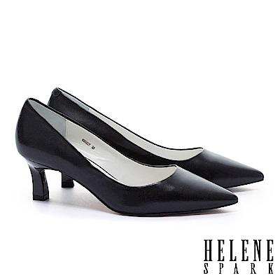 高跟鞋 HELENE SPARK 法式極簡雅緻純色羊皮尖頭高跟鞋-黑