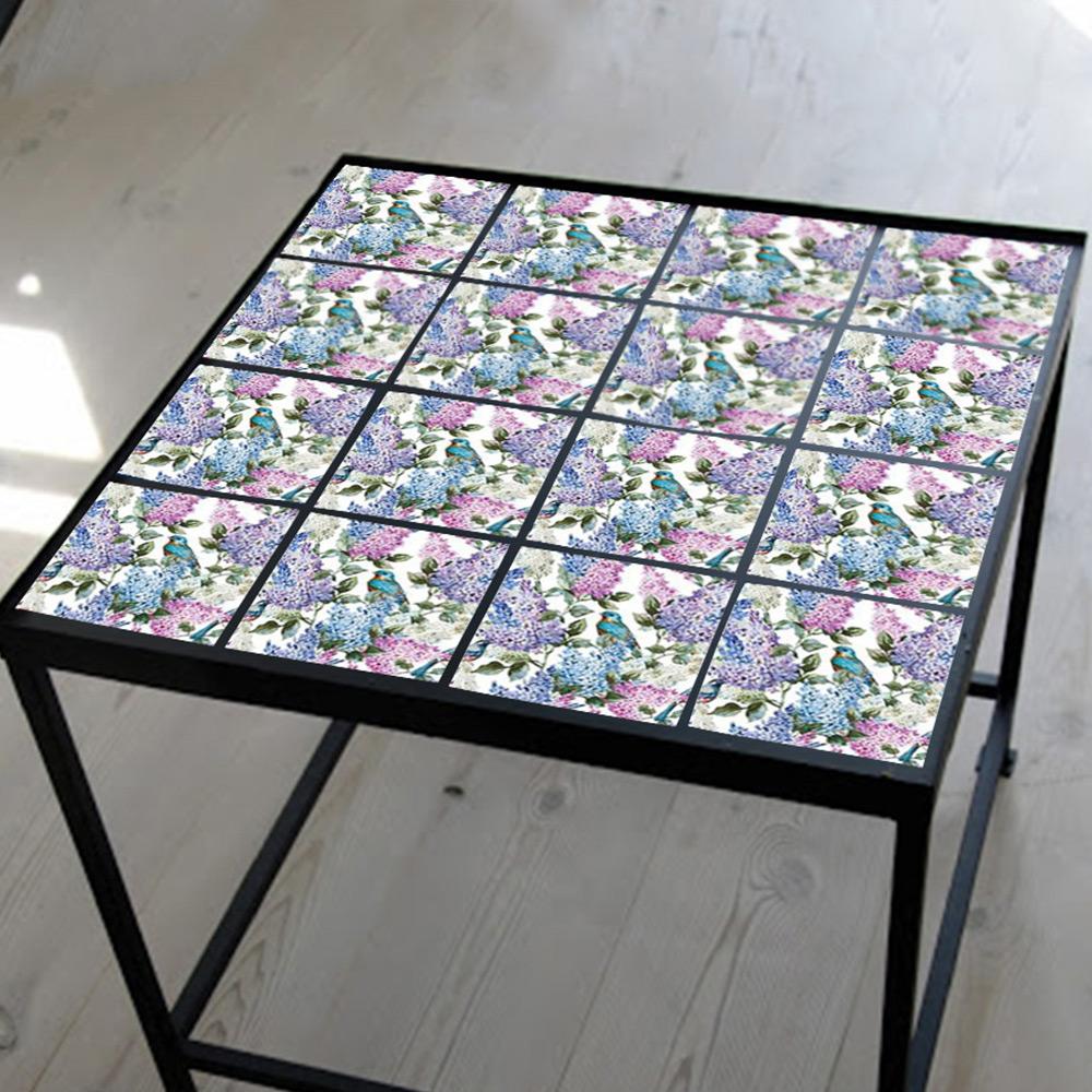 佶之屋 歐式復古加厚珍珠膜DIY自黏防油壁貼20x20cm(20片/2組)