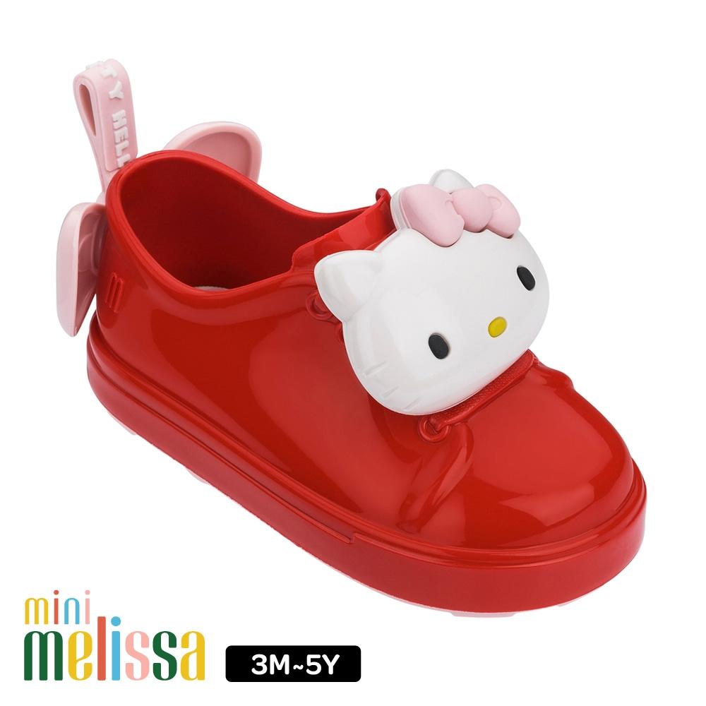 Melissa HelloKitty 蝴碟結裝飾休閒鞋 寶寶款 紅