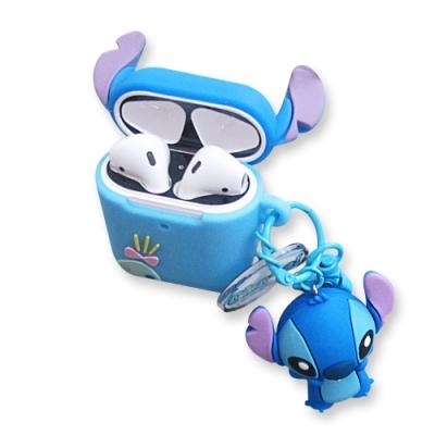 迪士尼 正版授權 Airpods 立體公仔 藍牙耳機保護套 1/2代通用款(史迪奇)