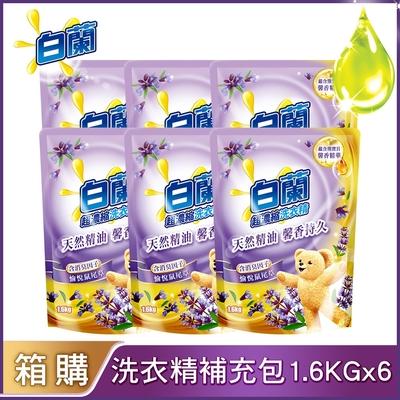 【買箱送箱!再送沐浴乳500g】白蘭 含熊寶貝馨香精華洗衣精1.6KGx6入/箱(共2箱)(多款可選)