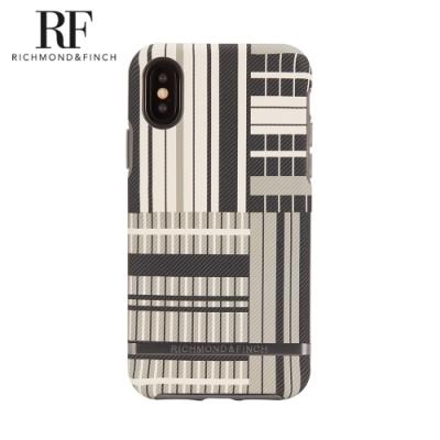 RF瑞典手機殼 啞光黑框-鉑金條紋 (iPhone X/Xs 5.8吋)