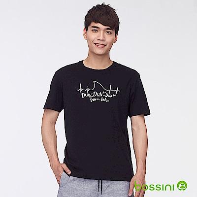 bossini男裝-印花短袖T恤30黑