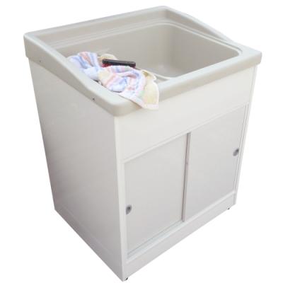 新式大型推門款塑鋼洗衣槽 水槽 洗手台-1入