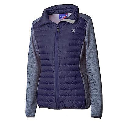 Wildland荒野女彈性針織拼接羽絨外套葡萄紫