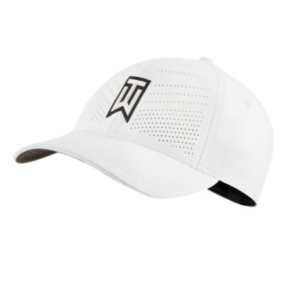Nike 帽子 AeroBill Heritage86 男女款 Tiger Woods 遮陽 高爾夫球帽 白 黑 BV1072100