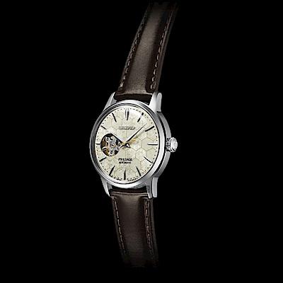 SEIKO 精工 Presage系列Star Bar 銀座蜂巢限量機械套錶SSA781J1