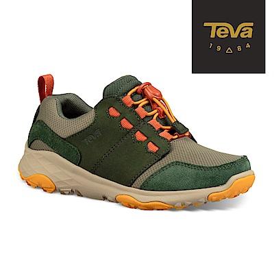【TEVA】原廠貨 小/大童 Arrowood 2 Low WP 低筒防水牛皮機能休閒鞋/登山鞋/童鞋(昆布綠)