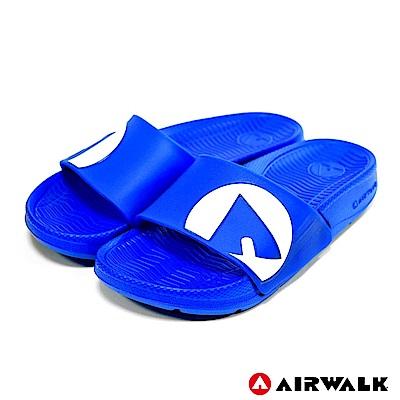 【AIRWALK】輕盈舒適童款EVA休閒多功能室內外拖鞋-中藍
