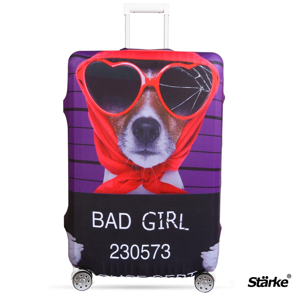 Starke 適用27-30吋高彈性行李箱套 -壞女狗狗